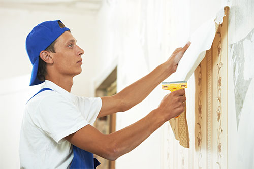Wallpaper removal and installation