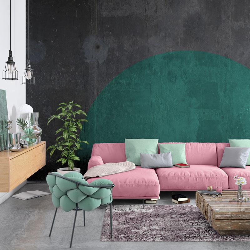 modern nordic living room interior